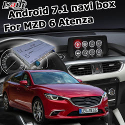 Lsault Android Gps Navigatie Systeem Box Voor Mazda 6 Atenza Mzd Connect Video Interface Knop Control Waze Optionele Carplay