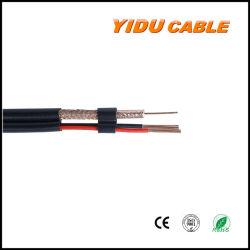 Из ружья 2 Core RG6 RG59 аудио видео CCTV сиамских безопасности коаксиальный кабель RG59 + 2c с питание постоянного тока 0,75 мм2/0.5мм2 коаксиальный Combo мультимедиа