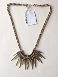 Colar de Ouro da cadeia de moda com peças metálicas 20~23 Pendente+6cm