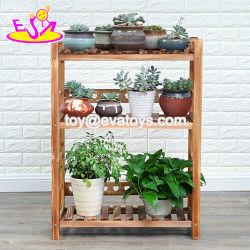 Haut de la vente 3 étagère en bois de Niveau Pot de fleurs pour le commerce de gros W08H106