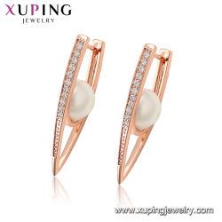 Fashion Diamond Classic Rainbow Crystal Huggie Hoop Earrings avec Pearl