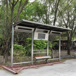 Outdoor-Bus-Schutzraum