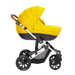 2018 Amazon hot продажи новой модели детского Stroller 2-в-1 малыша из натуральной кожи малыша с квадратным подголовком Car-Baby Stroller фальцовки