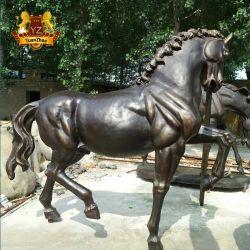 工場供給の大型のカスタマイズされたサイズのハンドメイドの鋳造の真鍮の青銅色の馬の彫像の彫刻