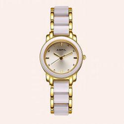 La moda de aleación cerámica Reloj de dama OEM Logotipo personalizado mujer Relojes de Pulsera (JY-AL093)