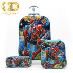 2019 Spiderman Bookbags рюкзак детей передвижной школьных сумок и колеса