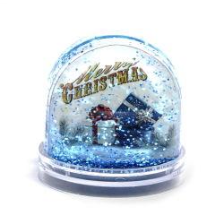 Custom DIY рождественских подарков снег купол фотографий Picture Frame вставьте пластиковые воды земного шара