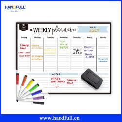 Magnete asciutto Whiteboard di Erase del pianificatore settimanale magnetico su ordinazione all'ingrosso del calendario