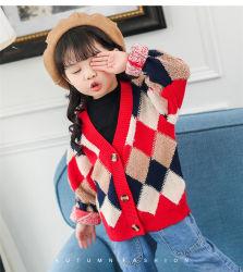 Moda Long-Sleeve tejidos de punto chaqueta de desgaste de la Escuela para Niños Los niños