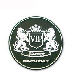 Alta qualidade personalizada de fábrica promocionais de borracha de silicone barato Bebida de PVC Cup Coaster