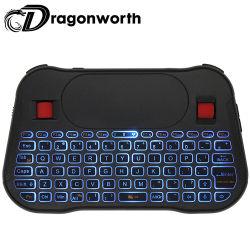 Un buen rendimiento al por mayor T18 Wireless recargable mini teclado de retroiluminación inteligente con pantalla táctil Teclado remoto