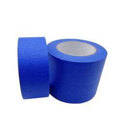 Couleur bleu résistant à la chaleur du ruban de masquage papier crêpe bande automobile