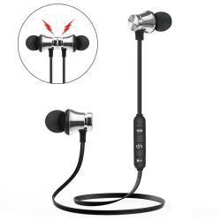 Cuffia avricolare con trasduttori auricolari stereo della cuffia di Earpods Earbuds del metallo Bluetooth dei magneti di aeronautica senza fili impermeabile del MP3 i migliori
