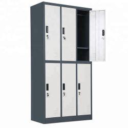 Порошковое покрытие 6 двери стальные Almirah разного цвета одежду шкафчик