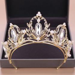 Classic tocado de joyería de moda la decoración de bodas de Cristal Blanco Tiara