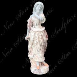 La sculpture en pierre à sculpter la statue de marbre pour la décoration d'accueil