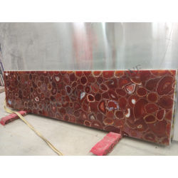 Piedra preciosa semi gran losa de piedra de ágata roja