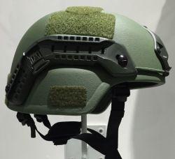 Kevlar verde Mich 2000 prueba de balas táctico casco con Nij IIIA de la Policía Militar