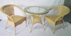옥외 등나무 대나무 의자 및 테이블 가구