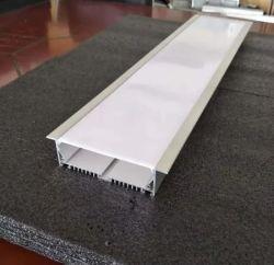 Водонепроницаемый экструзионный алюминиевый профиль канала светодиодного освещения встраиваемый светодиодный профиль для украшения архитектуры для установки вне помещений