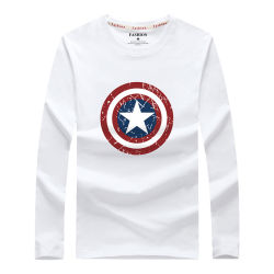 Menswear Fall novos homens Long-Sleeved da T-shirt alunos junior moda Outono Jacket - Rodada Five Star