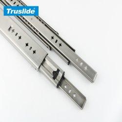 Mobilier de Canal télescopique en acier inoxydable Raccords matérielle des coulisses de tiroir à roulement à billes