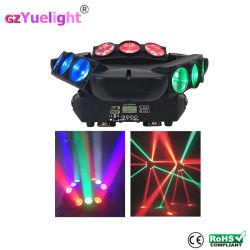 스캐너 DJ 조명 9PCS LED 스파이더 빔 움직이는 헤드 라이트