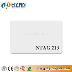 De geschikt om gedrukt te worden/Aangepaste Afgedrukte Plastic Witte Kaart Ntag213/215/216 van pvc voor Betaling