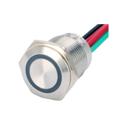 Wasserdichter 16 mm Tastschalter für den Außeneinsatz mit LED-Leuchten