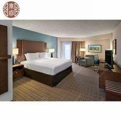 색칠에 의하여 고정되는 Heardboard를 가진 자연적인 목제 베니어 및 판매를 위한 위원회 호텔 객실 가구 대중음식점 가구 세트