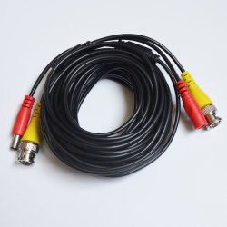 Alta calidad de CCTV cable coaxial RG6 con conector BNC DC para cámara CCTV
