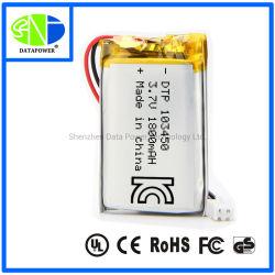 UL/Kc/Ce/RoHS baterias de lítio recarregável de íons de lítio de 3.7V 1800mAh Bateria para Carro Dash Gravador de câmara