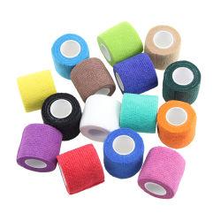 Impresos personalizados médicos no tejido elástico Venda cohesiva autoadhesivas