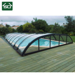Hot Sale DIY télescopique facile l'installation de couverture de piscine