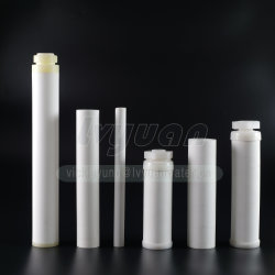 Liquide/Air Plastique fritté de purification de 40 microns filtre poreux filtre PE bougie avec rondes/filetage/fin/Double Ouvrir le couvercle
