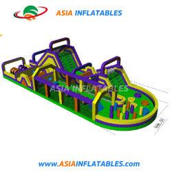 Couleur personnalisée Inflatable parcours à obstacles pour utilisation intérieure ou extérieure