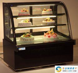 مخبز عالي الجودة مبرّد مبرّد Cake Clear 3 Tier Display Cabinets