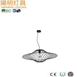 Forma de borboleta metálica da estrutura do fio da luz Haning Americana /Lâmpada Pendente exclusivo em preto