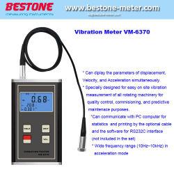 Портативное устройство Vibrometer вибрации ускорение скорости дозатора 10Гц~10Кгц диапазон тестер цифровой измеритель вибрации датчика пьезоэлектрических датчиков