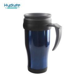 Commerce de gros coupelle en plastique à double paroi avec isolation thermique tasse à café en plastique avec poignée