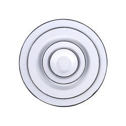 10/15/25/30cm Jeux de plaques rondes en acier au carbone de la vaisselle de revêtement en émail