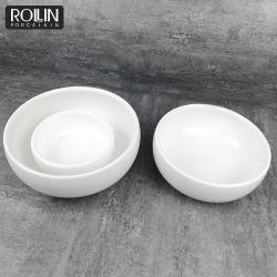 Multi-Specification tres tamaños Tazón de fideos de cerámica blanca