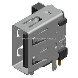 Af de 4 pin USB 2.0 Jack USB Cable de datos SIM RoHS Conector hembra para cargador