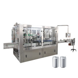 Lata de aluminio totalmente automático que hace la máquina
