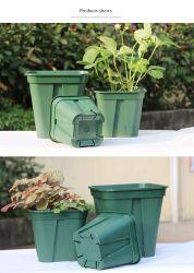 15cm da série de Controle da raiz quadrada de plástico verde durável Vasos para viveiro aumentou a decoração da Plantadeira Jardim e Varanda