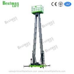 manuale 10m che spinge la piattaforma di lavoro aereo quadrupla dell'albero dell'elevatore verticale