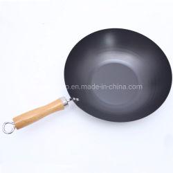 Wok Non-Stick Ustensiles de cuisine avec manche en bois