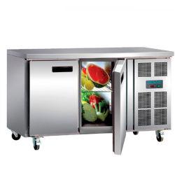 Comptoir de préparation de la profondeur d'un réfrigérateur congélateur vitrine Saladette de Pizza Bar