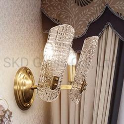 Refoulées pour plaque de verre Wall Lamp Shade acceptable de conception personnalisée