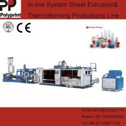 máquina de termoformação para copa redonda com ondulando sobre PP/PS/PD/Materiais de PVC